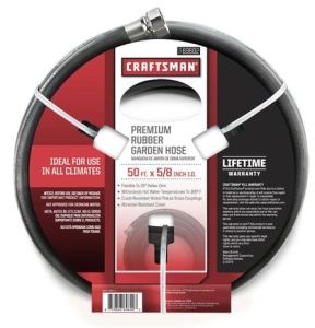 craftsman 50 ft all rubber garden hose