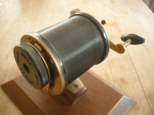 Apsco Fishing Reel Pencil Sharpener