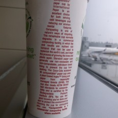 CocaCola ecotainer compostable paper cup 1