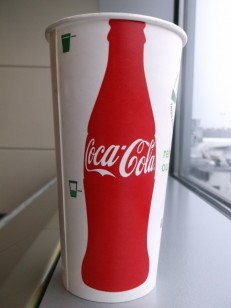 CocaCola ecotainer compostable paper cup 2