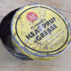 heat-pruf grease old tin opened jim sergovic