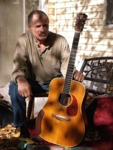 hugh mason with 1991 santa cruz guitar