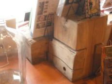 three piece stool aged jim sergovic