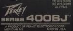 Peavey Series 400BJ label