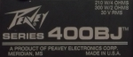 Peavey Series 400BJ label