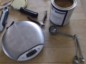 measuring hide glue by weight
