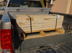 pallet flagstone in gmc truck bed