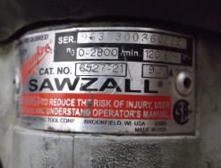 milwukee sawzall serial number plate