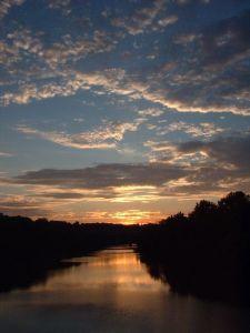 sunset over schuylkill philadelphia