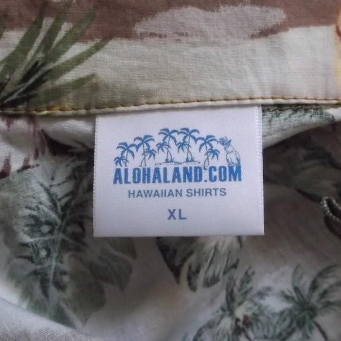 alohaland shirt label front
