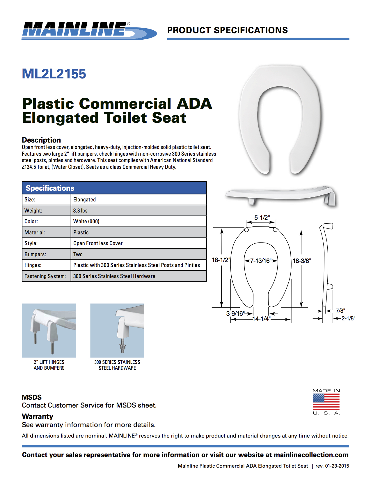 Made In Usa Commercial Toilet Seat American Toolbox