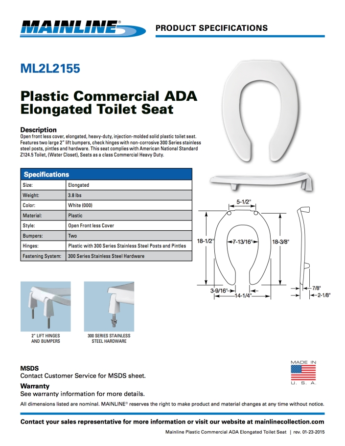 mainline-toilet-seat-ml2l2155-specifications