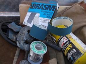 typical plumbers soldering tools