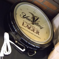 yuengling lager image time neon clock 2