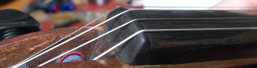 ebony violin nut profile
