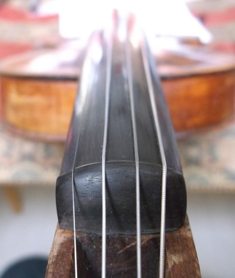polished ebony violin nut fingerboard