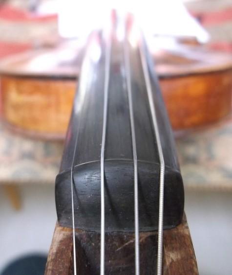 polished ebony violin nut fingerboard