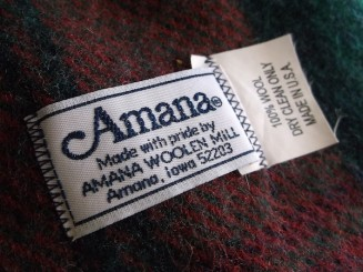 label amana woolen mill