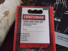 craftsman hook pick set packaging detail 41634