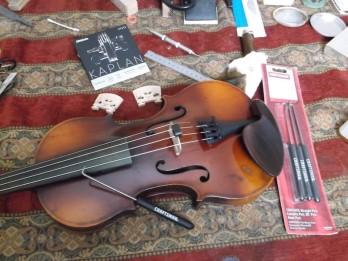 yorke violin with d'addario kaplan vivo strings