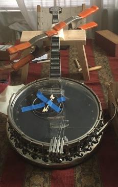 banjo headstock refurbishment