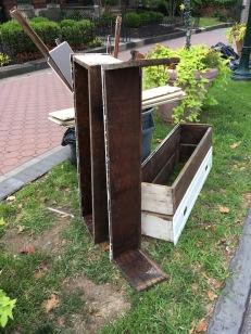 Philadelphia discarded vintage wood